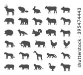 set of domestic and wild... | Shutterstock . vector #395474443