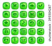 cartoon green square buttons...