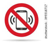 ban on phone mobile  cell phone ... | Shutterstock .eps vector #395518717