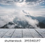 empty rustic wooden table and...   Shutterstock . vector #395540197