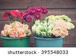 flowers in the bucket | Shutterstock . vector #395548033