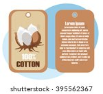 poster or logo with cotton... | Shutterstock .eps vector #395562367