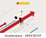 businessman flying success | Shutterstock .eps vector #395578747