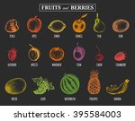 vector illustration fruits and... | Shutterstock .eps vector #395584003