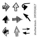 hand drawn arrows  vector set | Shutterstock .eps vector #395592817