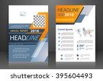 abstract vector modern flyers... | Shutterstock .eps vector #395604493