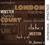 london  retro  stylish... | Shutterstock .eps vector #395627623