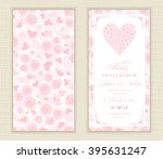 wedding invitation card with... | Shutterstock .eps vector #395631247