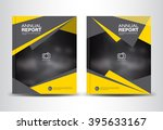 yellow and black annual report... | Shutterstock .eps vector #395633167