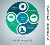 swot analysis template with... | Shutterstock .eps vector #395638903