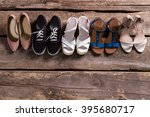 pairs of woman's stylish...   Shutterstock . vector #395680717