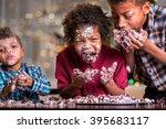 Afro Kids Greedily Eating Cake...