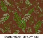 seamless pattern with hand... | Shutterstock .eps vector #395694433