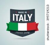 made in italy badge. vector... | Shutterstock .eps vector #395719213