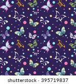 bright seamless pattern of... | Shutterstock .eps vector #395719837