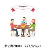 our success team linear design. ... | Shutterstock . vector #395764177