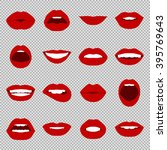 vector lips set. | Shutterstock .eps vector #395769643