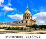 Les Invalides in Paris, France - stock photo