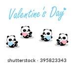 panda baby. valentine's day | Shutterstock .eps vector #395823343