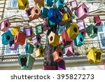 Colorful Bird Feeders Hanging...
