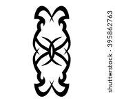 tattoo tribal vector design... | Shutterstock .eps vector #395862763