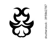 tattoo tribal vector design.... | Shutterstock .eps vector #395862787