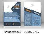 abstract vector modern flyers... | Shutterstock .eps vector #395872717