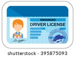 driver license. vector. cartoon ... | Shutterstock .eps vector #395875093