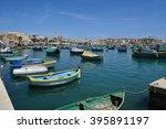 Boats In The Marsaxlokk Fishin...
