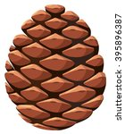close up of pine cone... | Shutterstock .eps vector #395896387