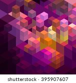 abstract colorful geometric... | Shutterstock . vector #395907607
