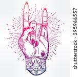 romantic flesh art rock... | Shutterstock .eps vector #395966557