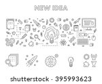 line design concept web banner... | Shutterstock . vector #395993623
