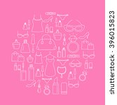 ladies shopping icons  ... | Shutterstock .eps vector #396015823