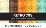 Retro Background Set. Vector...