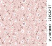 seamless vector floral pattern  ... | Shutterstock .eps vector #396033457