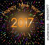 happy new year 2017  card with... | Shutterstock .eps vector #396050977