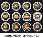 retro vintage sale silver badge ... | Shutterstock .eps vector #396059743