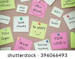 todo list for wellbeing on post ... | Shutterstock . vector #396066493