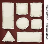 old torn paper set ... | Shutterstock .eps vector #396068953