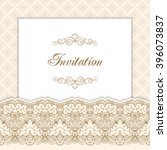 vintage invitation template... | Shutterstock .eps vector #396073837