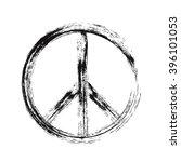 black color of peace symbol... | Shutterstock .eps vector #396101053