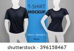 white t shirt mockup. vector...   Shutterstock .eps vector #396158467