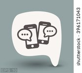 pictograph of message or chat... | Shutterstock .eps vector #396171043