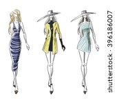 summer and autumn look  fashion ... | Shutterstock . vector #396186007
