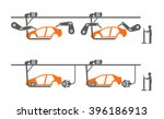 auto assembly conveyor | Shutterstock .eps vector #396186913