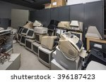 old monitors and computer parts   Shutterstock . vector #396187423