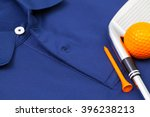 detail of blue polo shirt and...   Shutterstock . vector #396238213