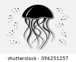 icon medusa. black silhouette... | Shutterstock .eps vector #396251257