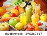 refreshing drinks   healthy... | Shutterstock . vector #396267517